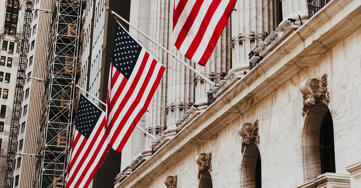 American flag collaborating